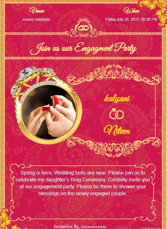 Free Engagement Invitation Card & Video, Online Invitations