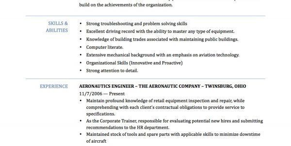 Aerospace Process Quality Engineer Resume Aerospace Engineering ...