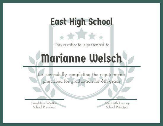 School Certificate Templates - Canva