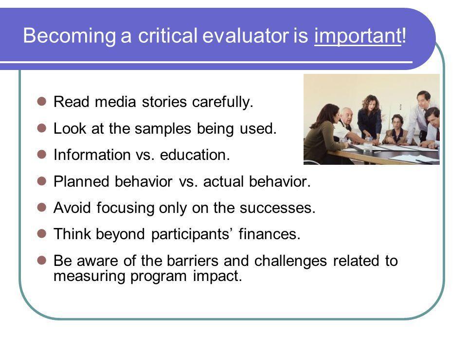 Measuring Financial Success Using Program Evaluation - ppt download