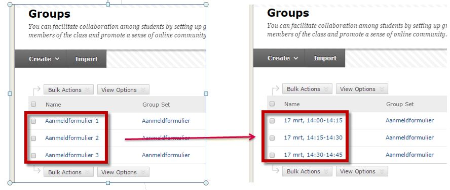 Create a Self-enrolled Sign-up sheet | Blackboard Support