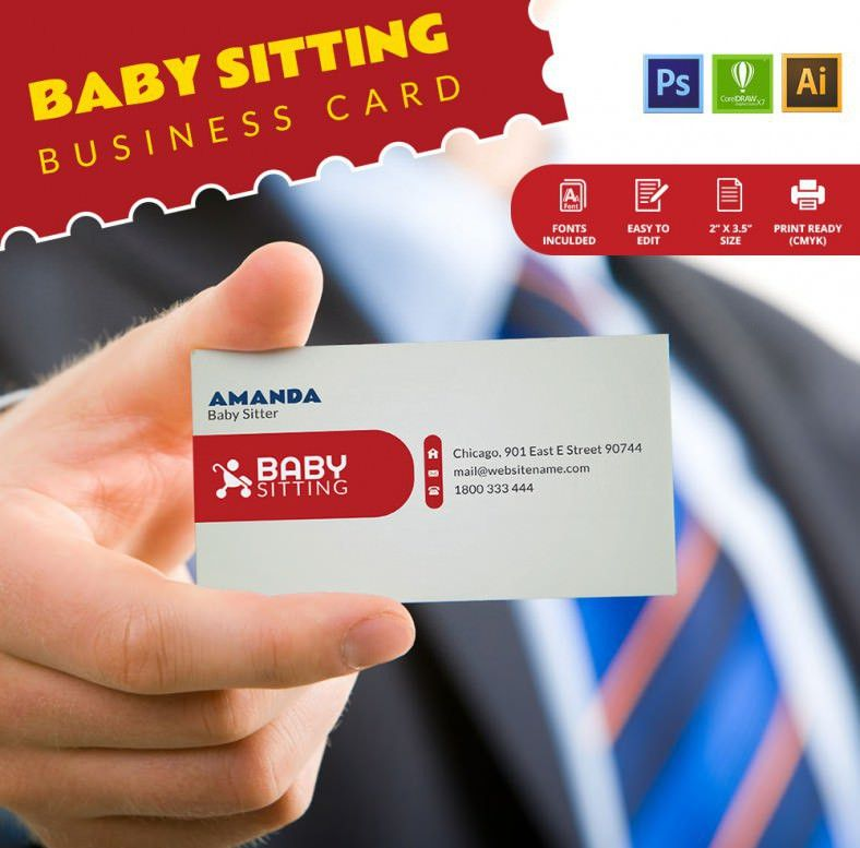 Baby Sitting Business Card Template | Free & Premium Templates