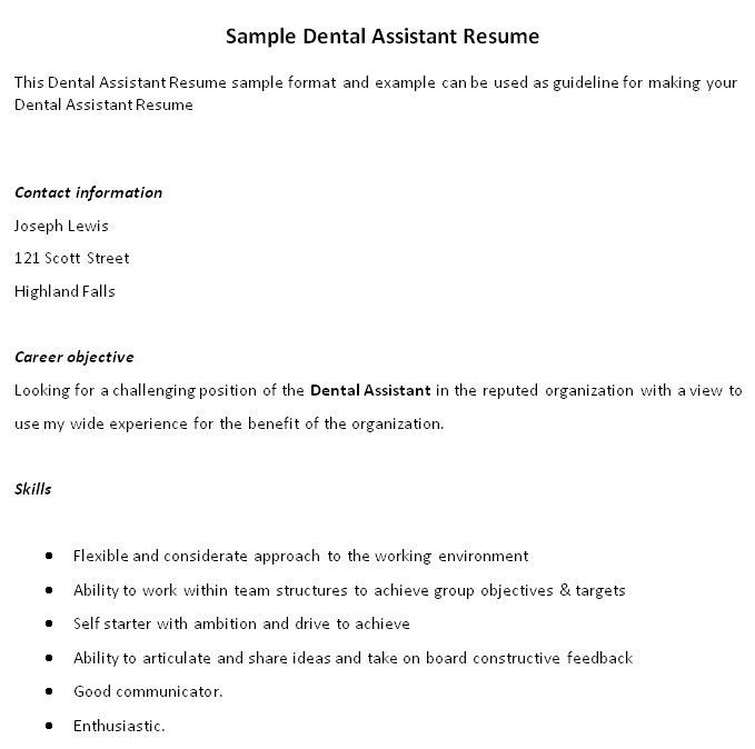 dental resume examples writing tips resume companion. dental ...