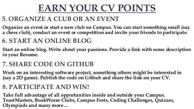 19 Tips to improve your CV/ Resume [Freshers]