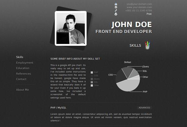 curriculum vitae website template resume website template resume ...