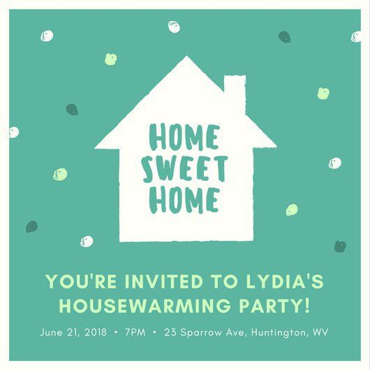 House Icon Housewarming Invitation - Templates by Canva