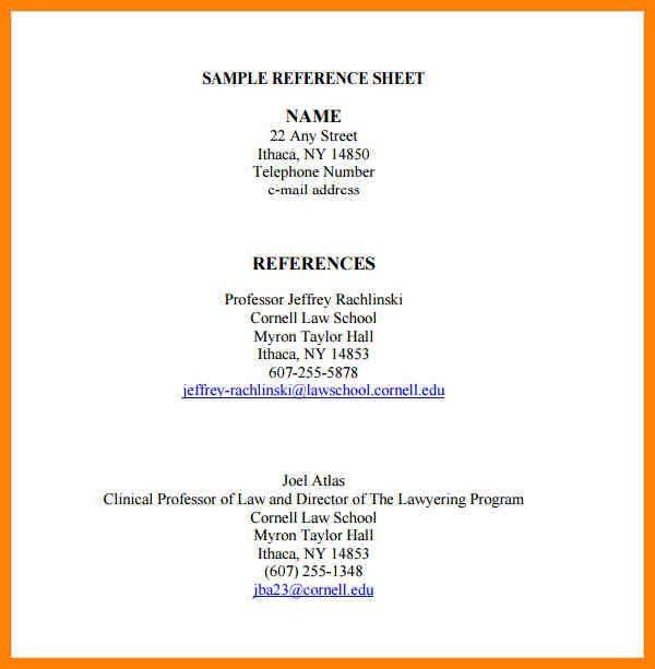 6+ reference sheet template | affidavit letter