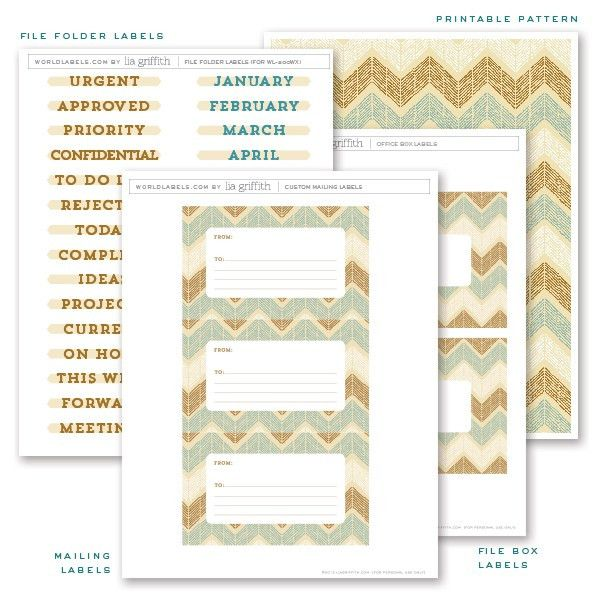 Free Printable Office Labels by Lia Griffith | Worldlabel Blog