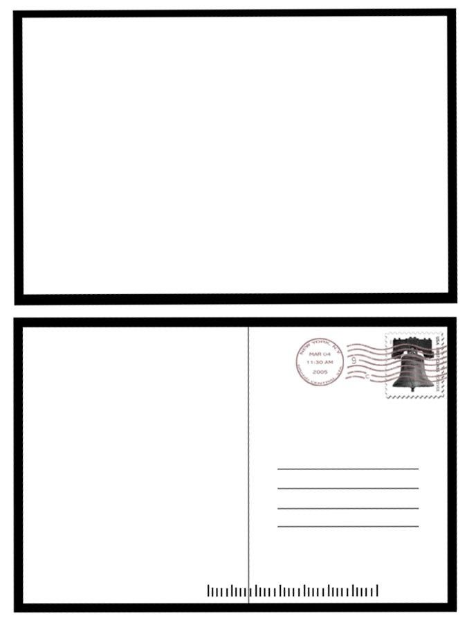 POSTCARD TEMPLATE | Example Resumes