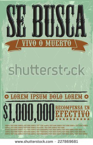Vintage Wanted Poster Vector Illustration Eps Stock Vector ...