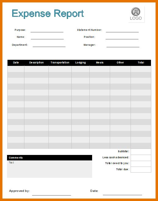 7+ free expense report template | Itinerary Template Sample
