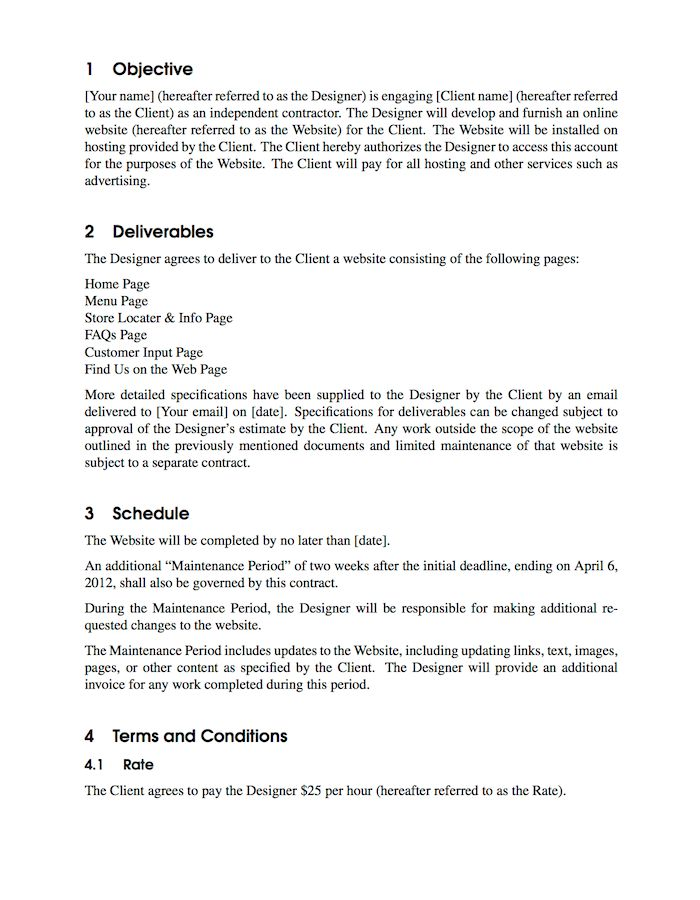 LaTeX Templates » Contract