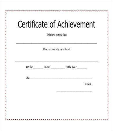 Certificate Of Achievement - 8+ Free PDF, PSD, JPG Format Download ...