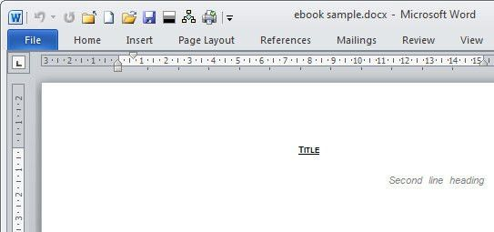Create an E-book template in Microsoft Word