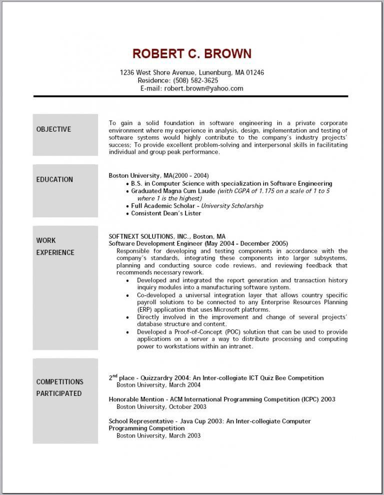 Remarkable Sample Resume Objectives 16 Examples Of Resumes Resume ...