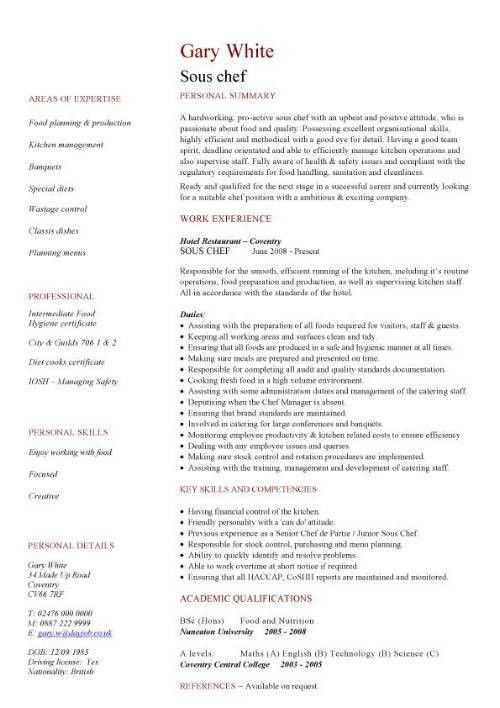 Surprising Personal Chef Resume Sample 88 In Resume Templates Free ...