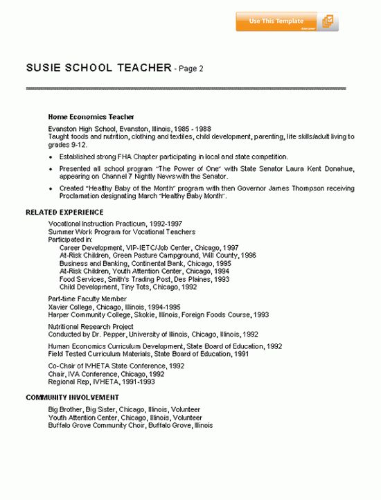 Ideas Collection Sample Teacher Resume No Experience About ...