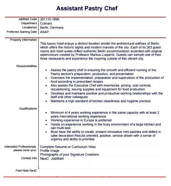 chef cover letters sample cover letter chef position chef cover ...