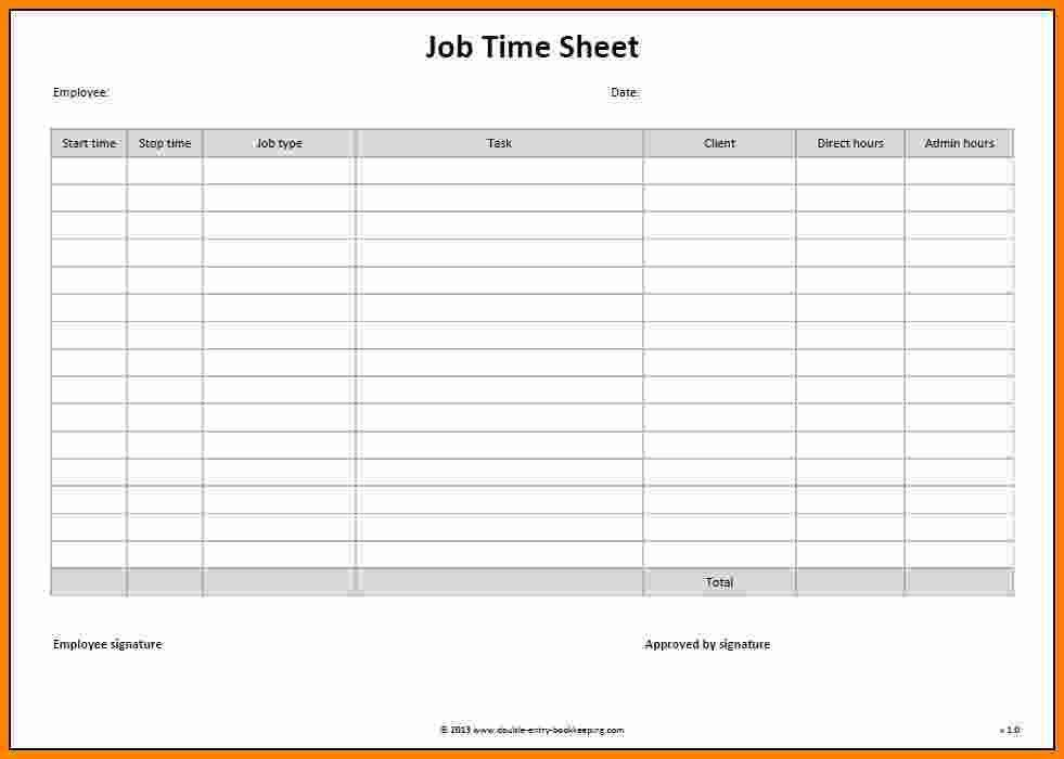 Job Sheet template word Archives - Social Funda