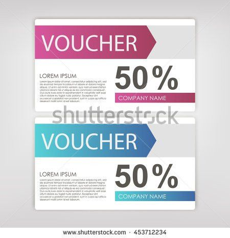 Gift Sale Template Voucher Certificate Coupon Stock Vector ...