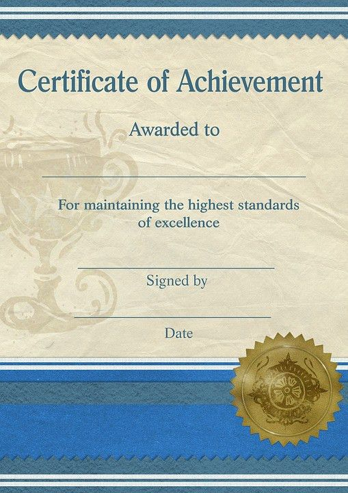 Free illustration: Certificate, Achievement, Template - Free Image ...