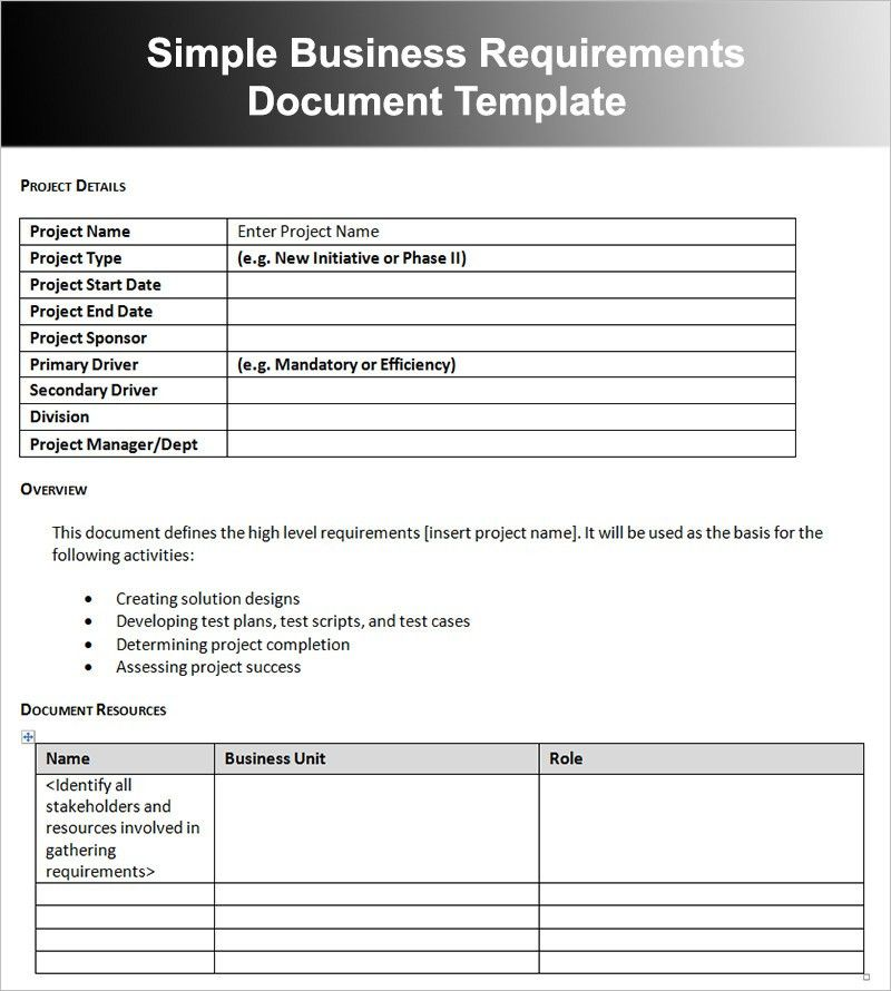 Project Overview Template. 14 Project Overview If Appropriate ...