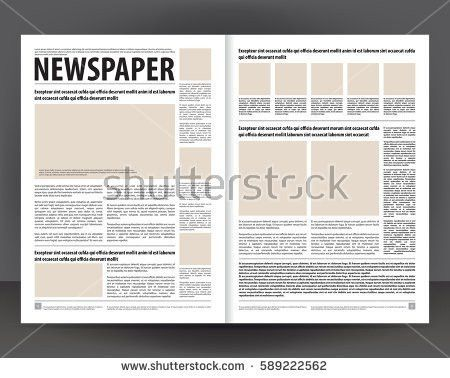 Vintage Newspaper Journal Vector Template Paper Stock Vector ...