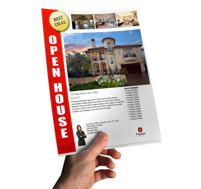 How TO Make A Last Minute Open House Flyer In Less Than 10 minutes.