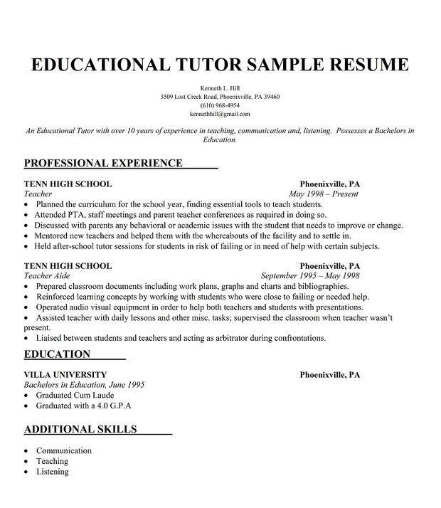 Strikingly Idea Math Tutor Resume 3 Math Tutor Resume Samples ...