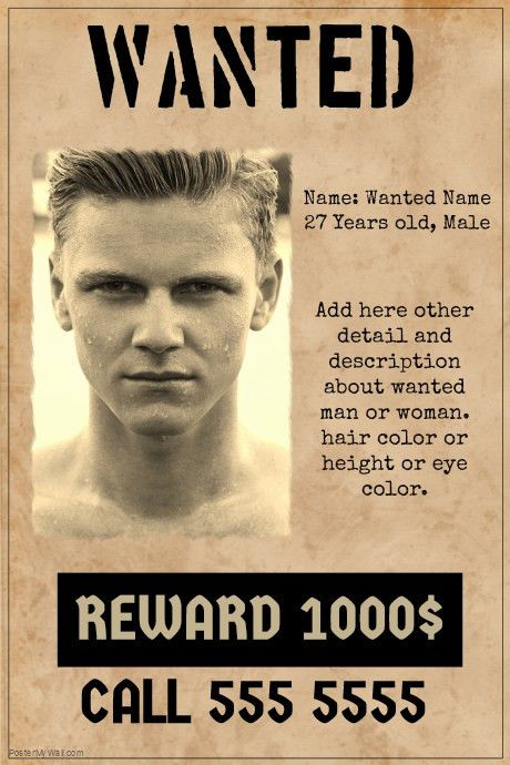 wanted poster template old paper style | PosterMyWall