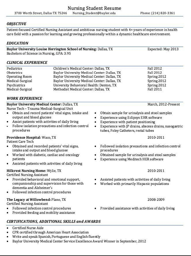 The 25+ best Nursing resume ideas on Pinterest | Registered nurse ...