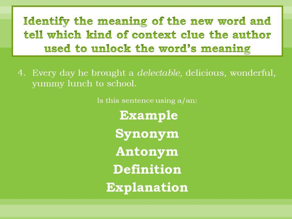Tips on understanding new vocabulary..  Sometimes when you read ...
