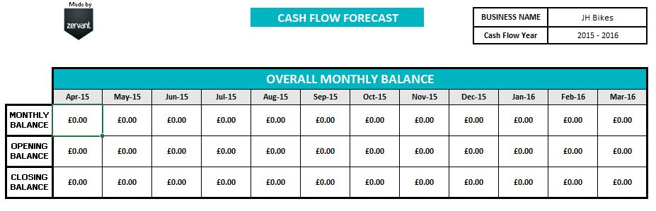 Free UK Cash Flow Template
