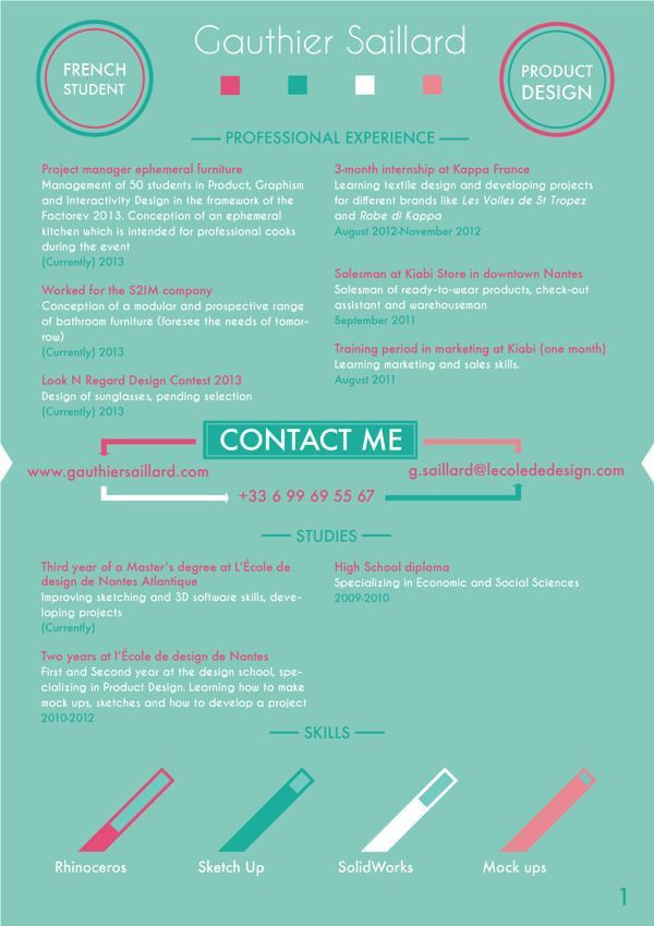 286 best CV images on Pinterest | Resume ideas, Cv design and ...