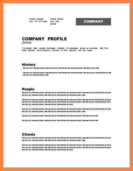 5+ model company profile template | Company Letterhead