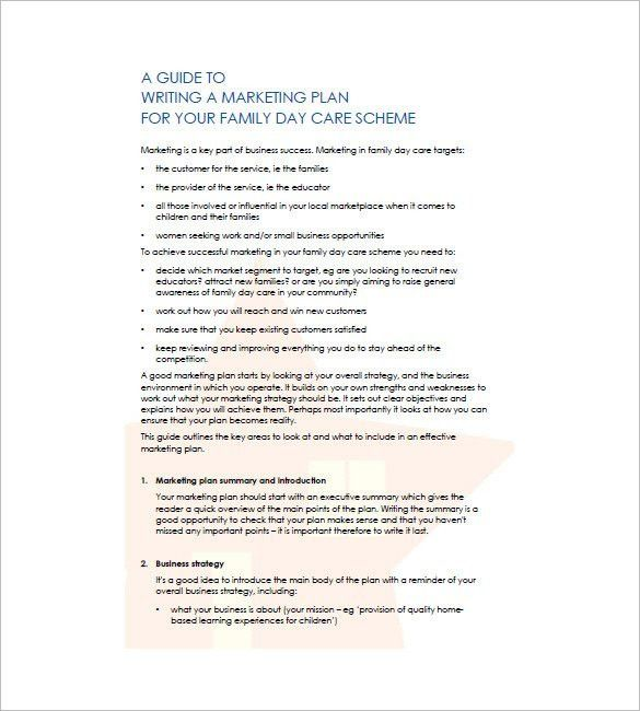 Daycare Business Plan Template | Template Design