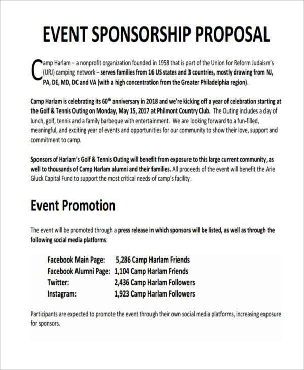 7+ Sponsorship Proposal Examples, Samples