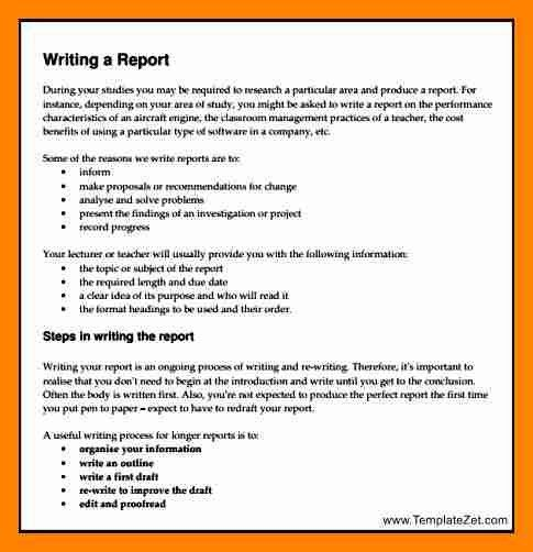 3+ report writing format | resume sections