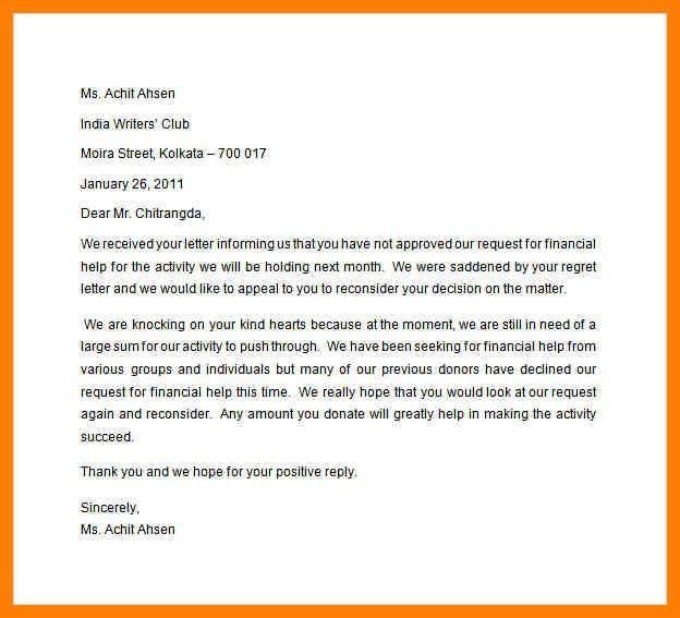 9+ financial aid suspension appeal letter sample   joblettered