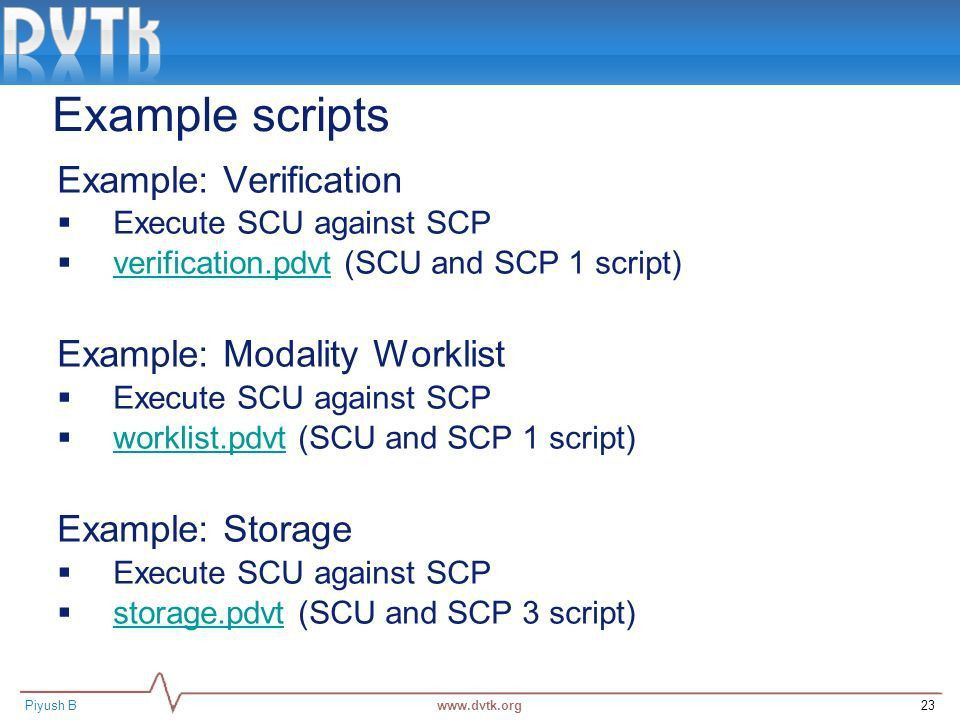 Basic Validation of DICOM objects using DVTk - ppt video online ...