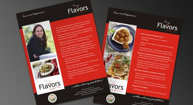 Single Page Brochure Design for Hi Profile Catering Service in USA