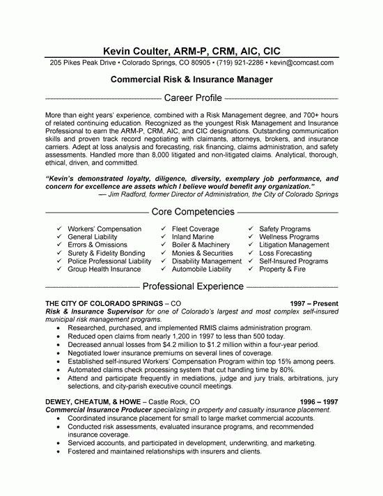 Insurance Agent Resume. Licensed Insurance Agent Resume Are The ...