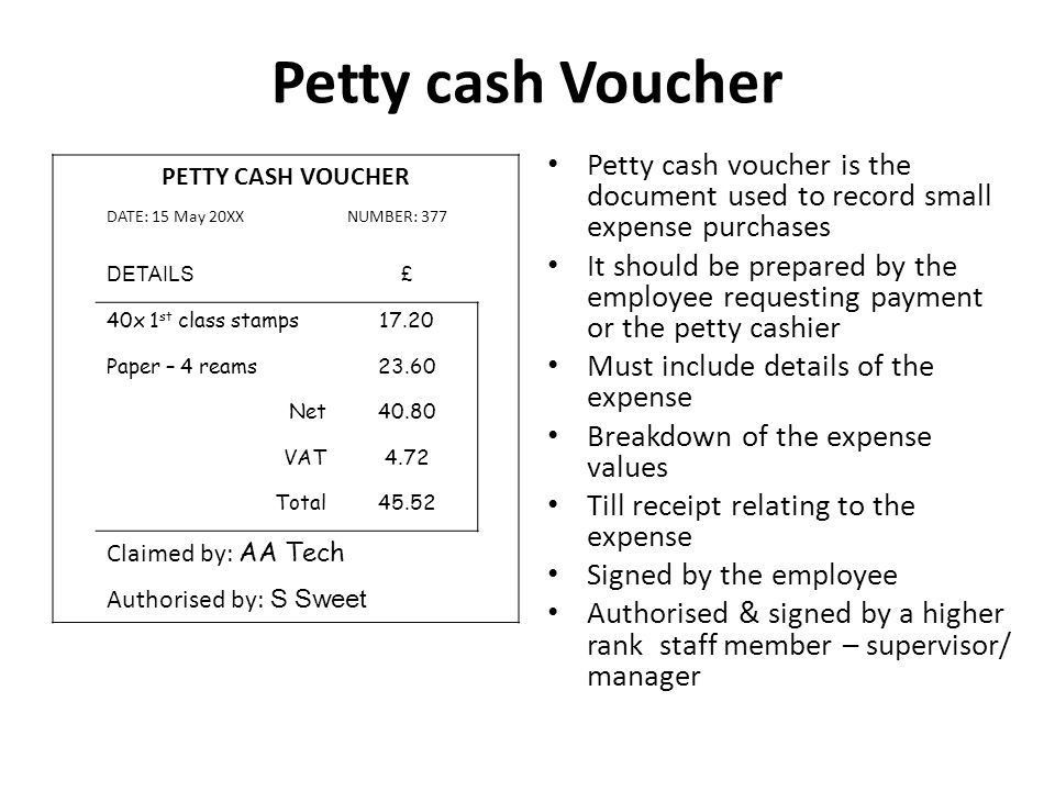 Petty Cash System- what is it? - ppt video online download