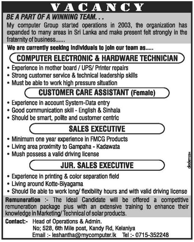 Computer Electronic & Hardware Technician,jobs vacancies,My ...