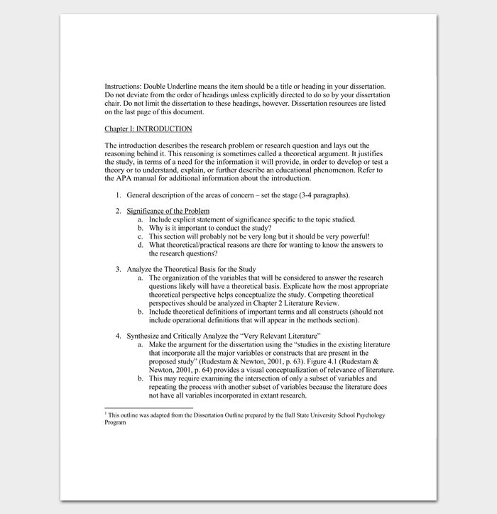 Dissertation Outline Template - 8+ For Word & PDF Format