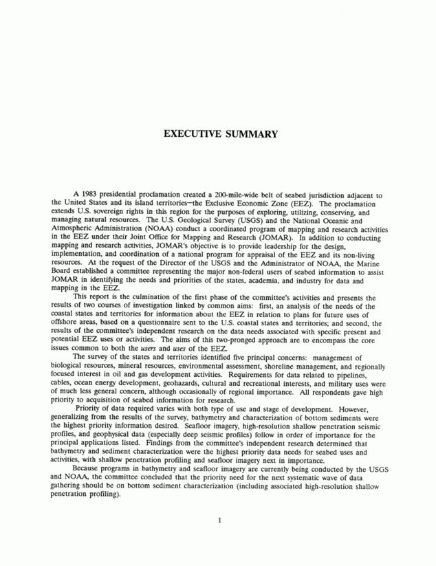 EXECUTIVE SUMMARY | Interim Report of the Committee on Exclusive ...