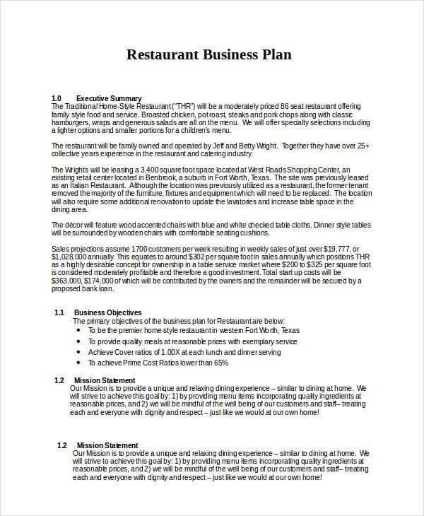 13+ Business Plans - Free Sample, Example, Format | Free & Premium ...