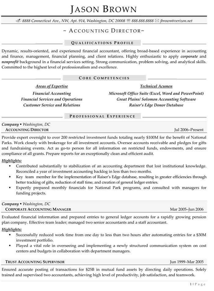 accounting director resume cv writing for sales manager sample