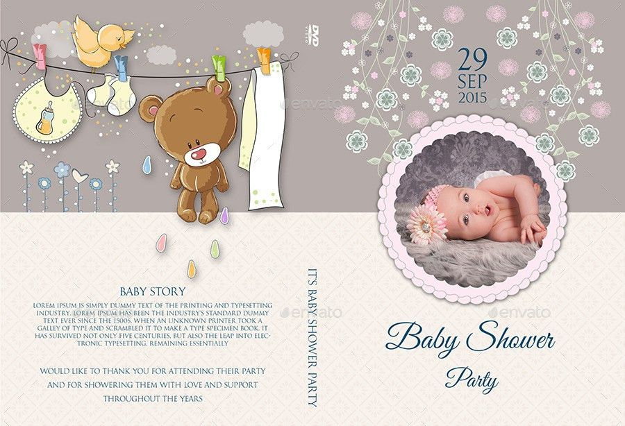 Baby Shower Party DVD Template Vol.3 by OWPictures | GraphicRiver