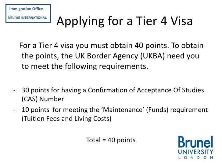 Applying for a Tier 4 Student Visa